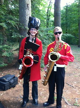 TWO bari-saxes!